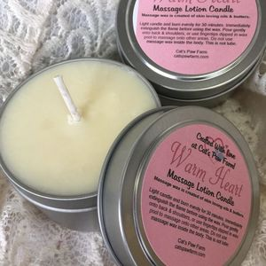 Warm Heart Massage Lotion Candle