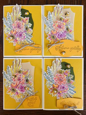 Autumn Greetings Greeting Card 4 pack