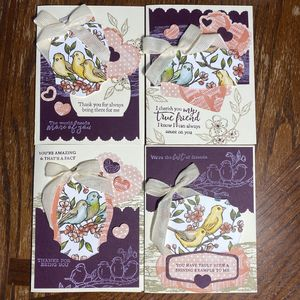 A Little Bird Told Me Greeting Card 4 pack
