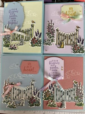Friends at the Gate Greeting Card 4 pack