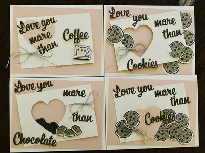 Love You More Than... Greeting Card 4 pack