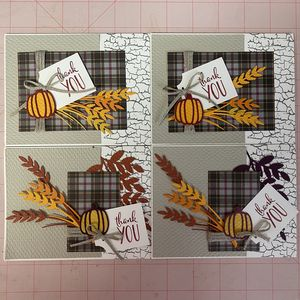 Autumn Thanks Greeting Card 4 pack