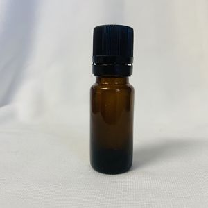 10mL Amber Glass Bottle with Cap Choice