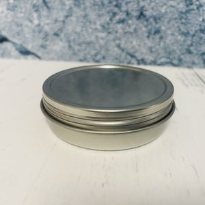 2oz Shallow Metal Tin with Slip Lid