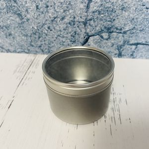 4oz Round Metal Tin with Clear Window