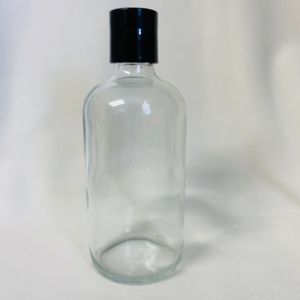 8oz Clear Glass Bottle with Cap Choice