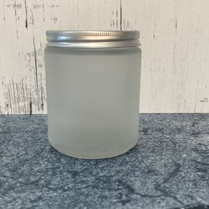 8oz Frosted Glass Jar with Cap