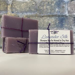 Lavender Silk Bar Shampoo for Normal to Dry Hair