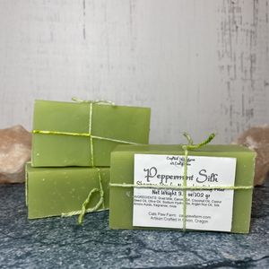 Peppermint Silk Bar Shampoo for Normal to Oily Hair