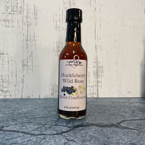 Huckleberry Wild Rose Shrub Syrup Concentrate
