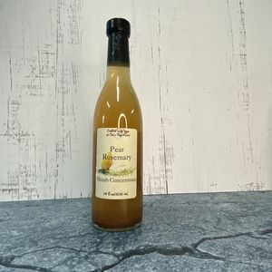 Pear Rosemary Shrub Syrup Concentrate