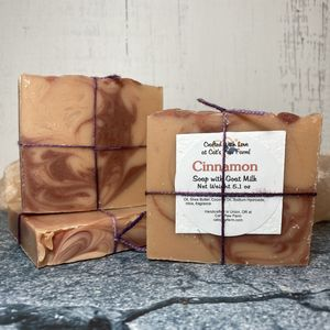 Cinnamon Scented Soap with Goat Milk