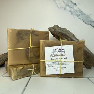 Almond Scented Soap with Goat Milk