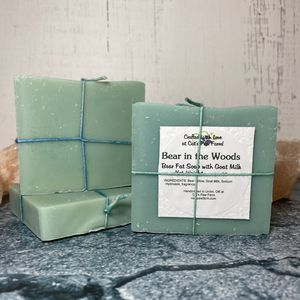Bear in the Woods Scented Bear Fat Soap with Goat Milk