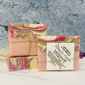 Butterfly Flower Scented Soap with Goat Milk