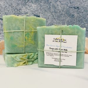 Blue Green Algae & Eucalyptus Scented Soap with Goat Milk