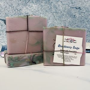 Blackberry Sage Scented Soap with Goat Milk