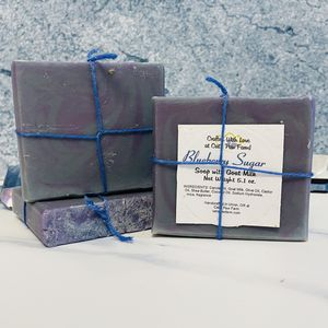 Blueberry Sugar Scented Soap with Goat Milk