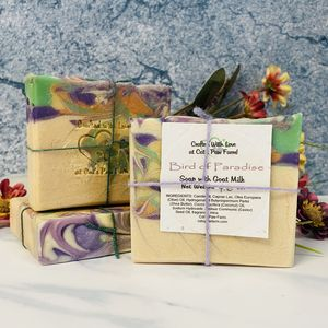 Bird of Paradise Scented Soap with Goat Milk