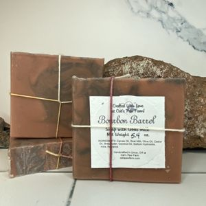 Bourbon Barrel Scented Soap with Goat Milk