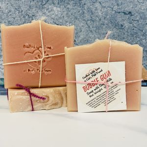 Bubble Gum Scented Soap with Goat Milk