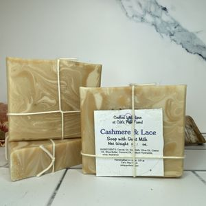 Cashmere and Lace Scented Soap with Goat Milk