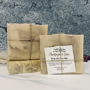 Champagne & Snow Scented Soap with Goat Milk