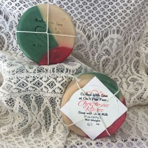 Christmas Kisses Scented Soap with Goat Milk
