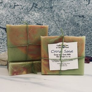 Citrus Sage Scented Soap with Goat Milk