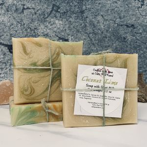 Coconut Lime Scented Soap with Goat Milk