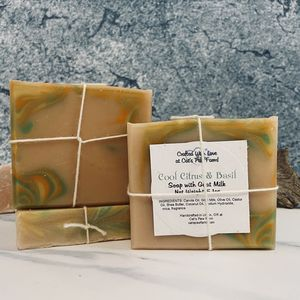 Cool Citrus Basil Scented Soap with Goat Milk