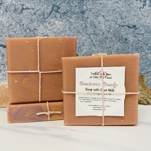 Cranberry Orange Scented Soap with Goat Milk