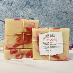 Flower Scented Soap with Goat Milk