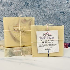 Fresh Snow Scented Soap with Goat Milk