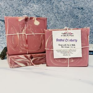 Frosted Cranberry Scented Soap with Goat Milk