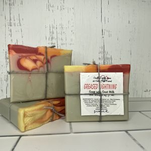 Greased Lightning Scented Pumice Soap with Goat Milk