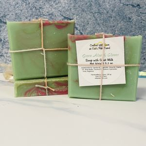 Green Aloe and Clover Scented Soap with Goat Milk