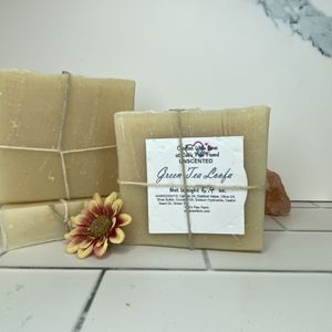 Green Tea Loofa Unscented Soap with Goat Milk