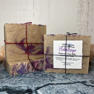 Heliotrope Scented Soap with Goat Milk