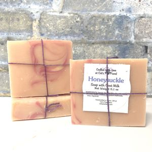 Honeysuckle Scented Soap with Goat Milk