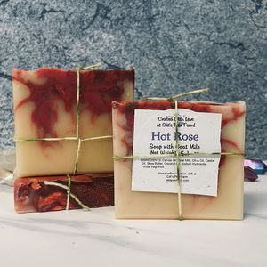 Hot Rose Scented Soap with Goat Milk