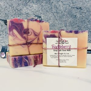 Huckleberry Scented Soap with Goat Milk