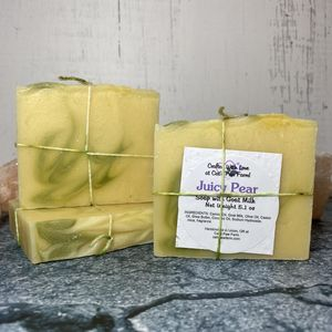 Juicy Pear Scented Soap with Goat Milk