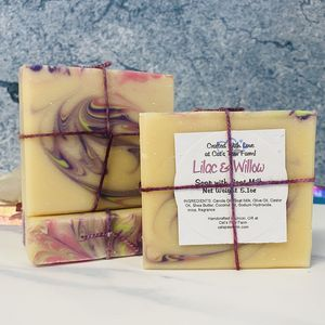 Lilac and Willow Scented Soap with Goat Milk