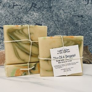 Olive Oil & Bergamot Scented Soap with Goat Milk