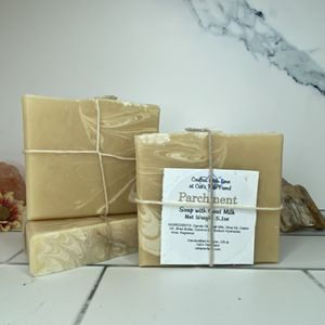 Parchment Scented Soap with Goat Milk