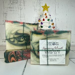 Pepperberry Wreath Scented Soap with Goat Milk