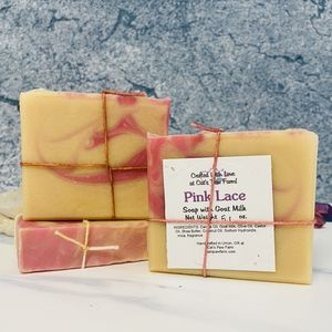 Pink Lace Scented Soap with Goat Milk