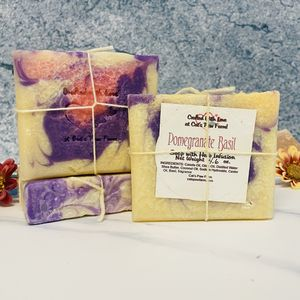 Pomegranate Basil Vegan Soap