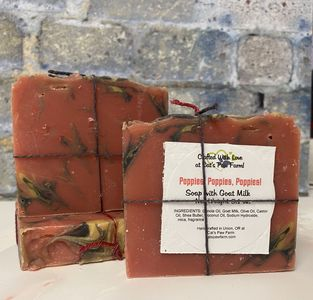 Poppies Poppies Poppies Scented Soap with Goat Milk